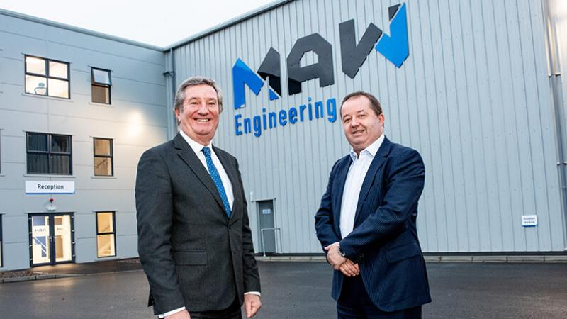Pictured (L-R) are Bill Montgomery, Director of Advanced Manufacturing & Engineering, Invest NI with Mark Cuskeran, Managing Director, MAW Engineering.